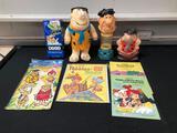 Flintstones Items, Plush Toy, Gumball Machine, Books, Bank