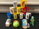 Walt Kelly Cartoon Cups, Snow White Cup, Casper Cup, Bugs Bunny
