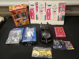 Marvel, Batman, Superman, '60s Batman charm bracelet, '79 Hulk Spiderman intercom set