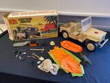 1971 Hasbro GI Joe Desert Patrol Jeep with accessories shown