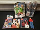 Vintage TV guides, Charlie's Angels, Mindy doll, premium celebrity dolls