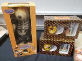 Halloween (Casper mug and figurine, pumpkin cups, Snoopy)