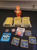 Humble Oil tiger bank, antenna topper, Michelin patches, Goodyear patches