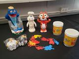 Advertising lot including Star-Kist, The Wizard of O's, Pillsbury Doughboy