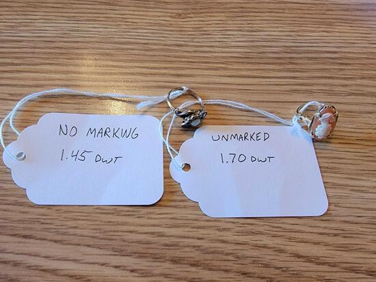 (2) Rings Unmarked