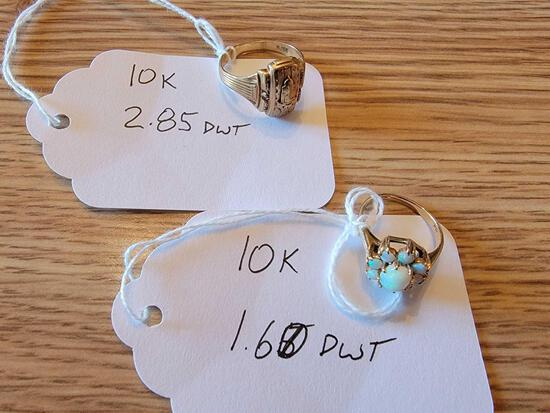 (2) Rings Marked 10K