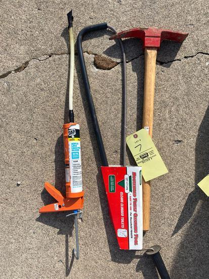Bathroom snake, tools