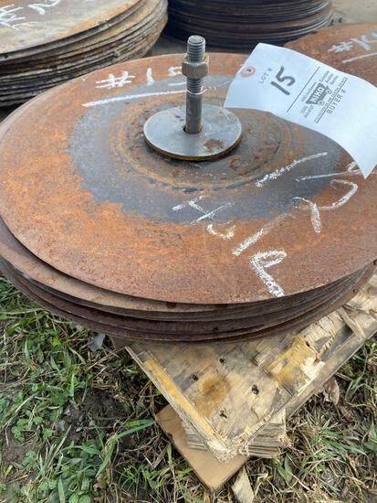 (14) chisel plow blades 1-1/2 hole