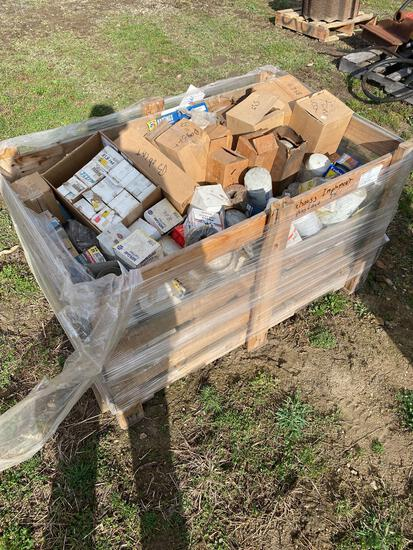 Crate of old stock filters