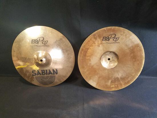 Sabian B8Pro 14inch medium hihats cymbals