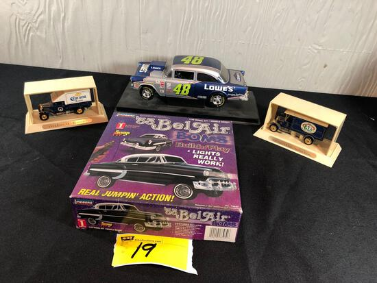 '53 Bel Air Bomb Car, Antique Advertising Truck Models, Lowes Die-Cast Replica Car