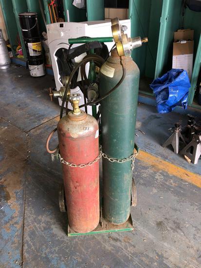 Oxyacetylene torch cart