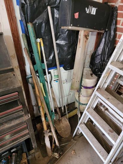 Yard Tools, T Posts, Mailbox, Broom