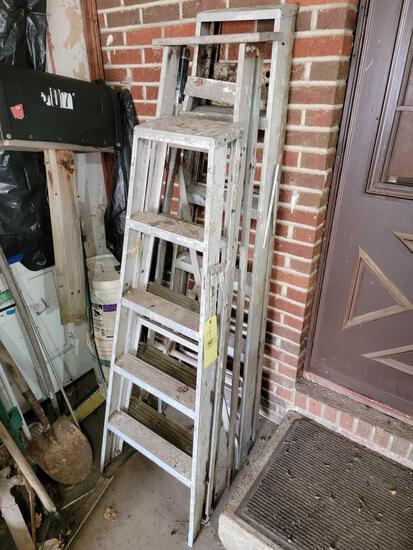 (2) Metal, (1) Wood Step Ladders
