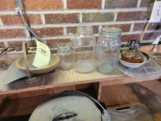 Glass Jars, Oil Lamp