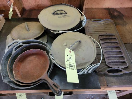 Lodge Cast Iron Skillets, Pots and Lids