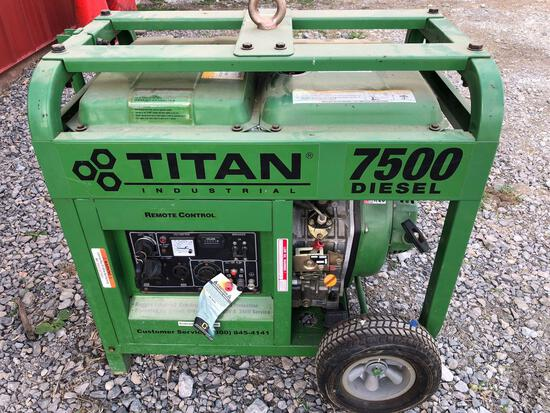 Titan 7,500-watt Diesel Generator