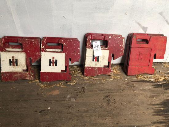 (8) 100-lb. Int. Suitcase Wts.