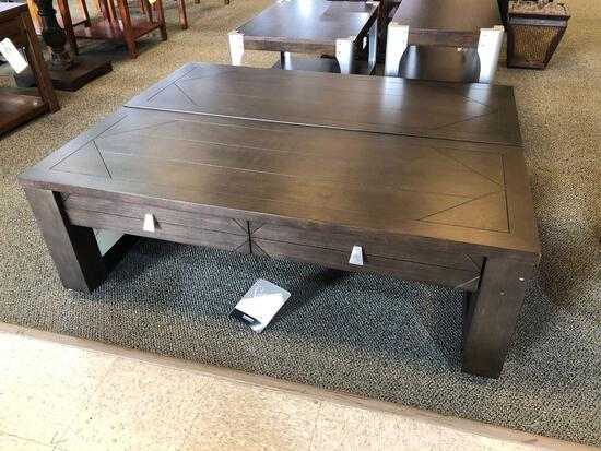 Ashley Furniture lift table on casters