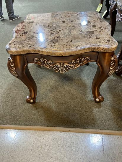 Acme End Stand Marble Top