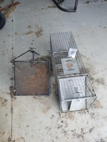 Live trap and campfire grill