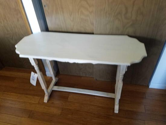 Distressed wood painted sofa table 4ft long