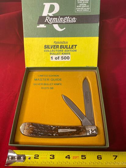 1995 Remington Master Guide #R-1273 SB silver bullet knife.