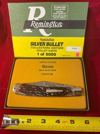 1992 Remington Guide #R-1253 SB silver bullet knife.
