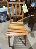 Wooden slat seat chair