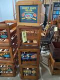 4 wood produce crates