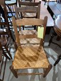 2 rush seat chairs