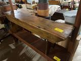 Early single plank bench 5 feet long