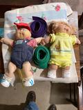 Cabbage Patch Kids dolls, karate belts and blanket