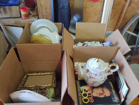 Assorted China, Books, Figurines, Misc.