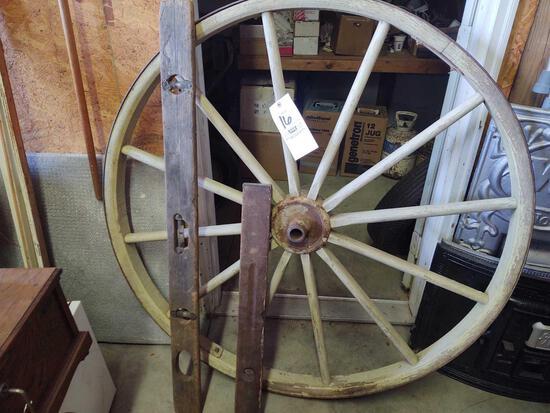 Wagon Wheel, Level, Grain Rake