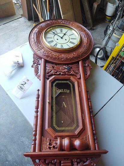 Regulator Carved Wall Clock