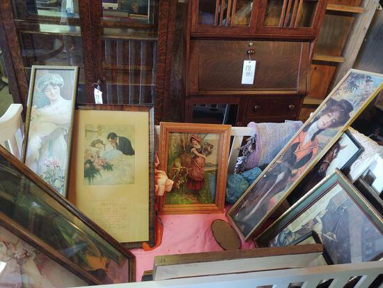 Assorted Framed Victorian Prints