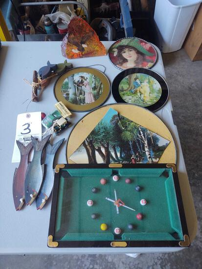 Billiard Clock, Glass Pictures, Fish Decor, Eagle Paper Weight