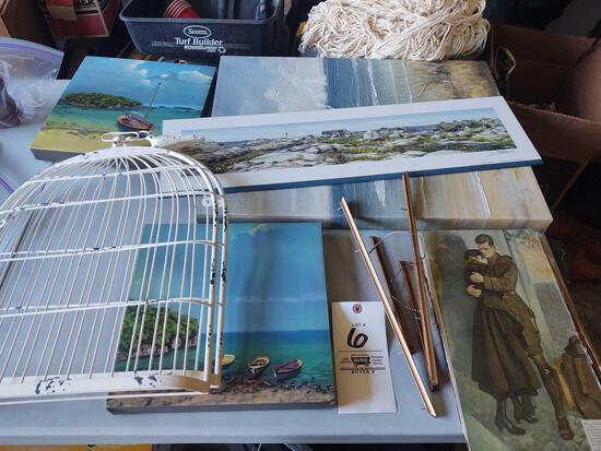 Ocean Canvas Prints, Bird Cage Decor, War Print