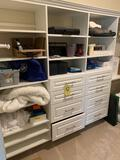 Contents of closet, phones, radios, games, bedding and more