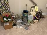 Decorative baskets, owl, cooler, organizers, wrapping paper and more