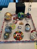 Assorted Christmas ornaments
