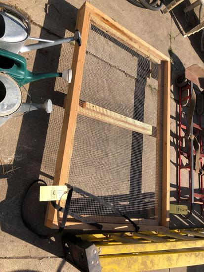 Wood frame/cart on casters