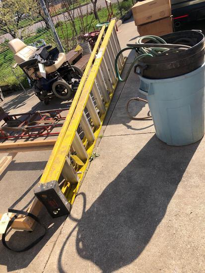 Wesco fiber glass folding ladder