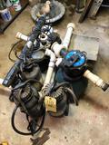 Pond pump, filter and sprayers