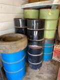 9 metal barrels