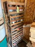 Crates and glass bottles