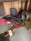 Gravely parts and gas can