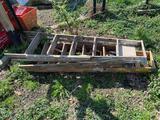 3 wood ladders