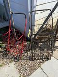 2 metal carts